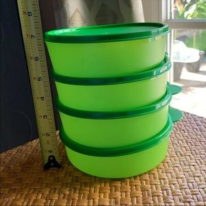 Tupperware Containers Green 4 Pc